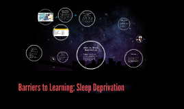 Copy of Barriers to Learning: Sleep Deprivation