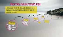 Abortion should remain legal.
