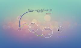 Técnicas para la clasificación del material