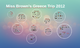 Miss Brown's Greece Trip 2012