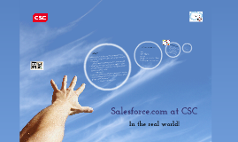 CSC and Salesforce.com