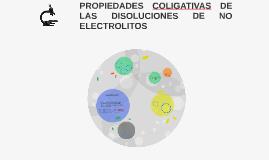 PROPIEDADES COLIGATIVAS DE LAS DISOLUCIONES DE NO ELECTROLIT