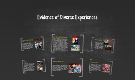 Evidence of Diverse Experiences