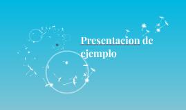 Presentacion de ejemplo