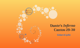 Dante's Inferno Cantos 29-30