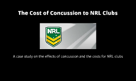 The Cost of Concussion to NRL clubs