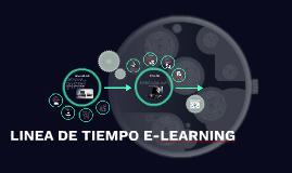 LINEA DE TIEMPO E-LEARNING