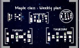 Stars weekly plan