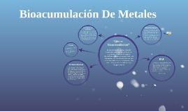 Bioacumulación De Metales