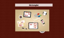 Copy of Skrivregler