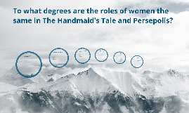 To what degrees are the roles of women the same in The Handmaid's Tale and Persepolis?