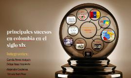 principales sucesos en colombia en el siglo xlx
