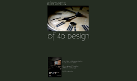 Elements of 4D Design