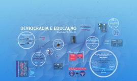 DEMOCRACIA E EDUCAÇÃO