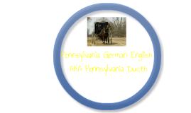 Pennsylvania German English