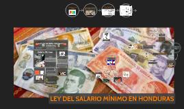 LEY DEL SALARIO MINIMO EN HONDURAS