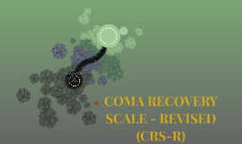 COMA RECOVERY SCALE - REVISED (CRS-R)