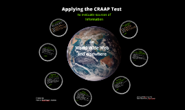 Comp I Using the CRAAP Test