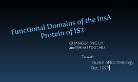 Functional Domains of the InsA Protein of IS2
