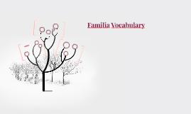 Familia Vocabulary