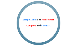 hitler vs stalin compare and contrast A history lesson on the similarities between nazism in germany  both hitler and stalin at the  whereas in complete contrast hitler sought.