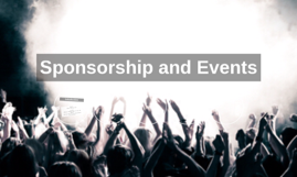 Sponsorship and Events
