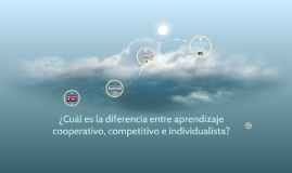 ¿Cuál es la diferencia entre aprendizaje cooperativo, compet