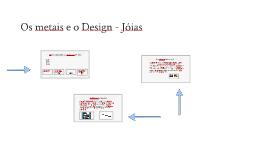 Os metais e o Design - Joias