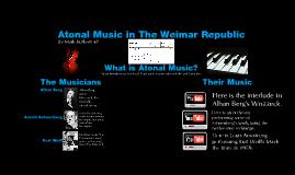 Atonal Music in the Weimar Republic
