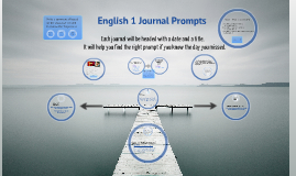 English 1 Journal Prompts