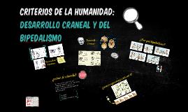 CRITERIOS DE LA HUMANIDAD: Desarrollo del bipedismo y cranea