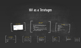 HIV as a Teratogen