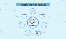 Tecnica de impresion TRANSFER