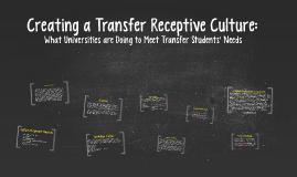 Creating a Transfer Receptive Culture: