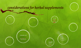 considerations for herbal supplements