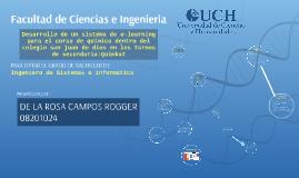 Facultad de Ciencias e Ingenieria