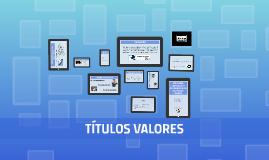 Copy of TÍTULOS VALORES