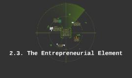 2.3. The entrepreneurial element
