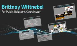 Brittnay Wittnebel for Public Relations Coordinator