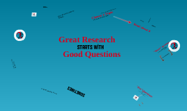 Writing Good Research Questions