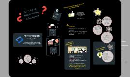 Conceptos generales de Innovación Educativa