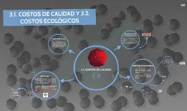 COSTOS DE CALIDAD Y ECOLOGICOS
