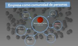 Empresa como comunidad de personas