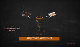 STRATEGIE AZIENDALI