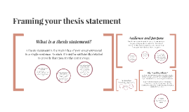 Framing your thesis statement