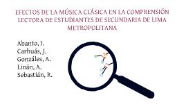 Efectos de la música clásica en la comprensión lectora