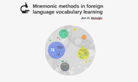 Mnemonic methods in foreign language vocabulary learning