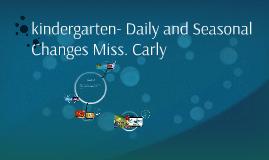 kindergarten- Science