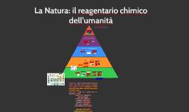 Copy of La natura il reagentario chimico dell'umanità