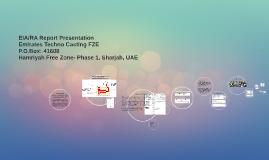 EIA/RA Report Presentation